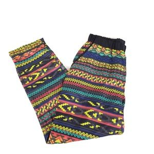 Xhilaration Colorful Tribal Patterned Stretch Pant